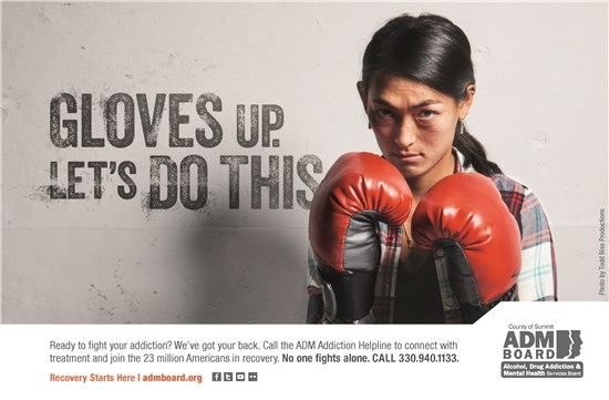 Gloves up. Let's do this. Ad campaign.