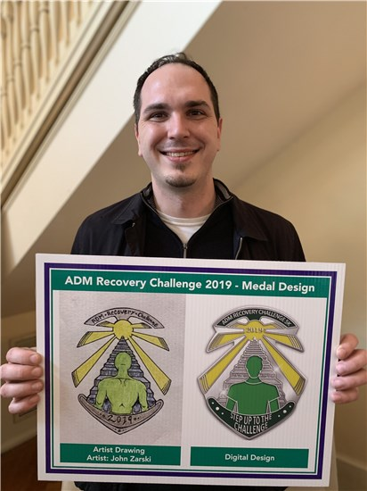 Photo of John Zarski - Medal Design Winner